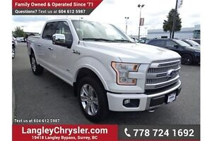 2015 Ford F-150 Platinum w/Navigation, Leather Int. & Sunroof
