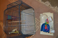 BIRD CAGE AND ASSESSORIES