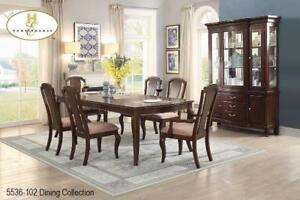 Dining Table with two extensions and 6 Chairs (MA696)