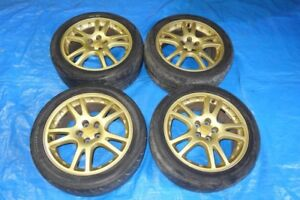 JDM Subaru WRX STi Version 7 5x100 Rims & Tires 17x7.5 + 53