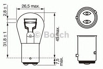 BOSCH PureLt P214W 12V Baz15D Trade Pk   1987302215