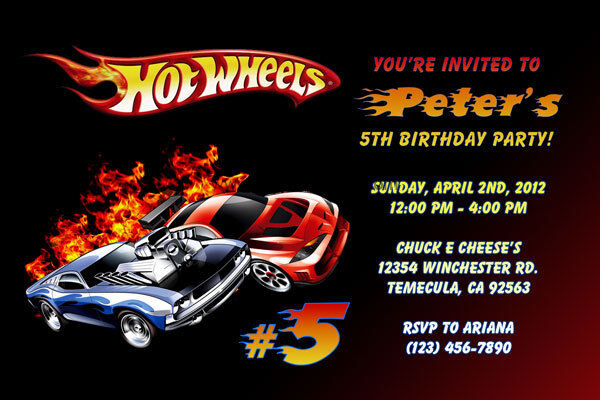 Hot Wheels Invitations Personalized Birthday Party Shipped Or Printable