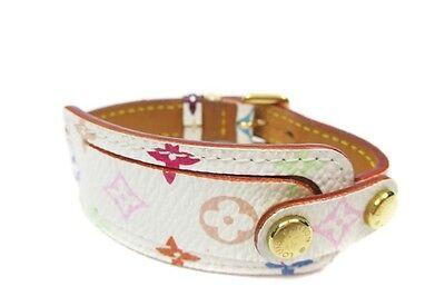 Auth LOUIS VUITTON Multicolor Monogram Canvas Leather Bracelet LB5165L