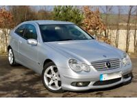Mercedes Benz C Class Coupe 2.1 C200 CDI Sport Edition, 2 YEARS WARRANTY not audi bmw ford vauxhall