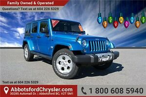 2015 Jeep Wrangler Unlimited Sahara W/ Navigation & Bluetooth