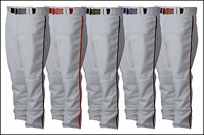 Rawlings Hemmed Open Bottom Adult Mens Baseball Pants PP350MRP White or Grey