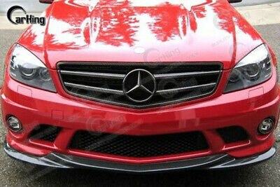 08-11 BLACK PAINTED MERCEDES BENZ W204 C63 AMG GH style FRONT LIP