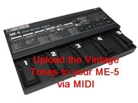 BOSS ME-5 Upgrade set - all New Sounds!