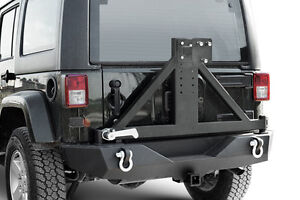 Jeep Wrangler JK 07-16 Tire Carrier Rock Crawler Rear Bumper