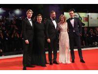 THE FAVOURITE Premiere with EMMA STONE OLIVIA COLMAN NICHOLAS HOULT 18th Oct LONDON FILM FESTIVAL