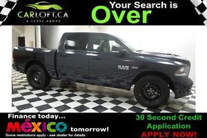 2017 RAM 1500 SPORT CREW 4X4 - LOW KMS**SUNROOF**NAV
