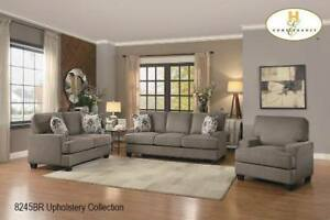 Fabric 3 PC Sofa Set on Sale in Brown Color (BD-2423)