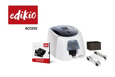 Evolis Edikio Access Pvc Tag Solution Bundle Printer Cards Ribbon Software New