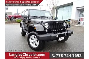 2015 Jeep Wrangler Sahara LOCALLY DRIVEN & ONE OWNER