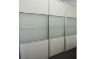 Room dividers, Partitions, Sliding doors, folding doors