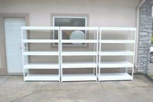 SHELVING 5 SHELF ALL STEEL METAL SHELVES. FREE DELIVERY!
