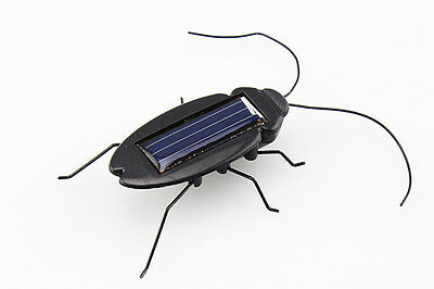 Solar Powered Energy Cockroach Gadget Bug Toy Children Kids Gift Mini New Ev