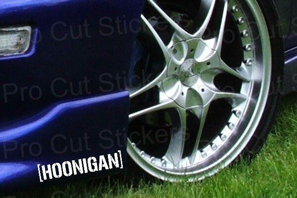 150mm (15cm) x2 Small HOONIGAN Stickers Decals Ken Hooning Block JDM 17 colours