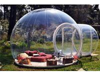 Tente de bulle. Tente gonflable. Tente Igloo.