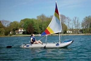 Ensemble de voile pour bateau gonflable
