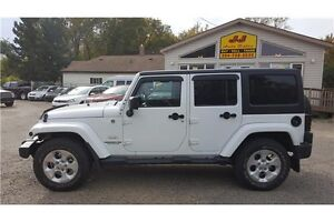 2015 Jeep Wrangler Unlimited Sahara Removable Hard Top,One owner