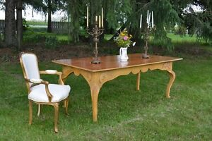 French Country Antique Style Harvest Table