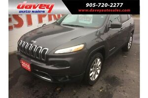 2016 Jeep Cherokee Limited 4X4, REMOTE STARTER, HEATED LEATHE...
