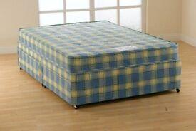 Brand new, still bagged. 4ft6 Orthopaedic firm mattress divan bed set.Excellent matress