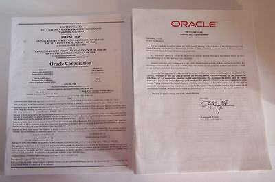 Oracle Corporation Orcl Stock Annual Meeting   10K Reports 2010 2013