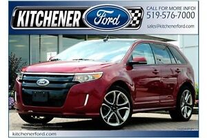 2014 Ford Edge Sport SPORT/V6/3.7L/HTD SEATS/CAMERA/PANO ROOF...