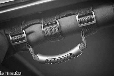 Roll Bar Grab Handle (PAIR) Black for Jeep Wrangler YJ TJ JK Strap On Handle