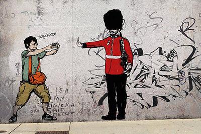 Poster Grafitti Art PROLIFIK (Banksy Style) - Royal Guard NEU 58379