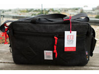 Topo Designs Mini Mountain Bag Black wool/leather