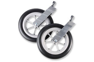 Chariot stroller wheels, sling and head hugger