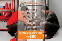 Furnace Repair Available from $60 Onward