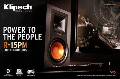 Klipsch R 15Pm Powered Speakers With Bluetooth   Turntable Input B Stock