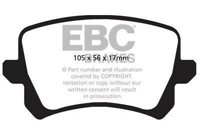 EBC Ultimax Rear Brake Pads for Audi Q3 2.0 TD (177 BHP) (2013 > 15)
