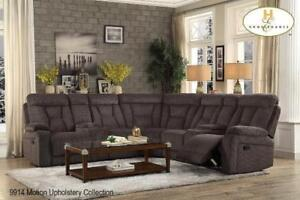 Fabric Sectional with 2 Recliners - Sale in Brampton (BD-2484)