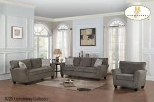 Grey Fabric 3 PC Sofa Set - Living Room Sale (BD-2410)
