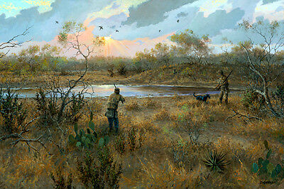 Bird Hunting Texas Dove Hunting Giclee On Canvas Print Dogs Guns Action