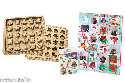 Stampo cioccolatini calendario avvento silicone Silikomart xmas natale - Rotex