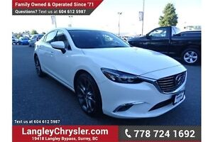 2016 Mazda 6 GT w/Navigation, Leather Int. & Sunroof