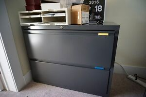 2 Lateral 2-Drawer Filing Cabinets by Hirsh $1200 retail