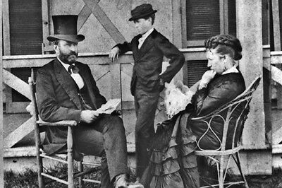 New 5x7 Photo: 18th President Ulysses S. Grant with wife Julia & son, Jesse