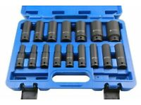 Bergen 16pc 1/2'' Dr 6-Point 10-32mm Deep Impact Socket Set 1358
