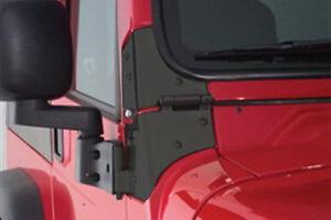 Smittybilt 7603 Black Windshield Hinge Set Jeep 76-95 CJ/YJ Pair