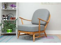 Vintage 203 Ercol easy chair | refinished | newly upholstered | design classic | comfy | £550