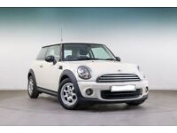 12M MOT,2012 MINI HATCH 1.6 ONE (PEPPER), PETROL,MANUAL,WHITE,ALLOYS,PARKNG SNSRS,HPI CLEAR
