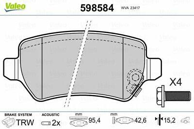 VALEO Bremsbelagsatz, Scheibenbremse 598584 für CHEVROLET HYUNDAI KIA OPEL