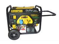NEW CHAMPION 7000 WATT DUAL FUEL GENERATOR , PETROL OR GAS ,BALLYNAHINCH, SUITABLE FOR CATERING VANS